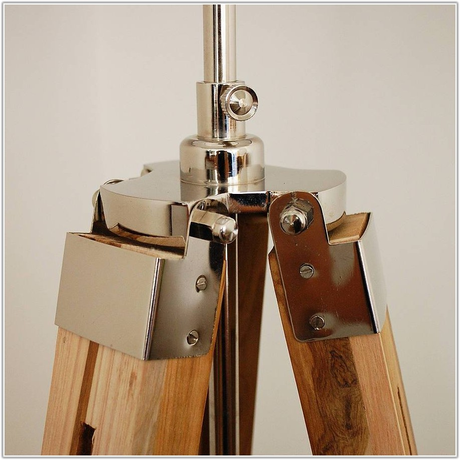 3 Leg Wood Floor Lamp