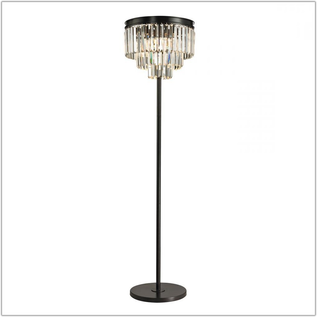 3 Light Floor Lamp Rubbed Bronze