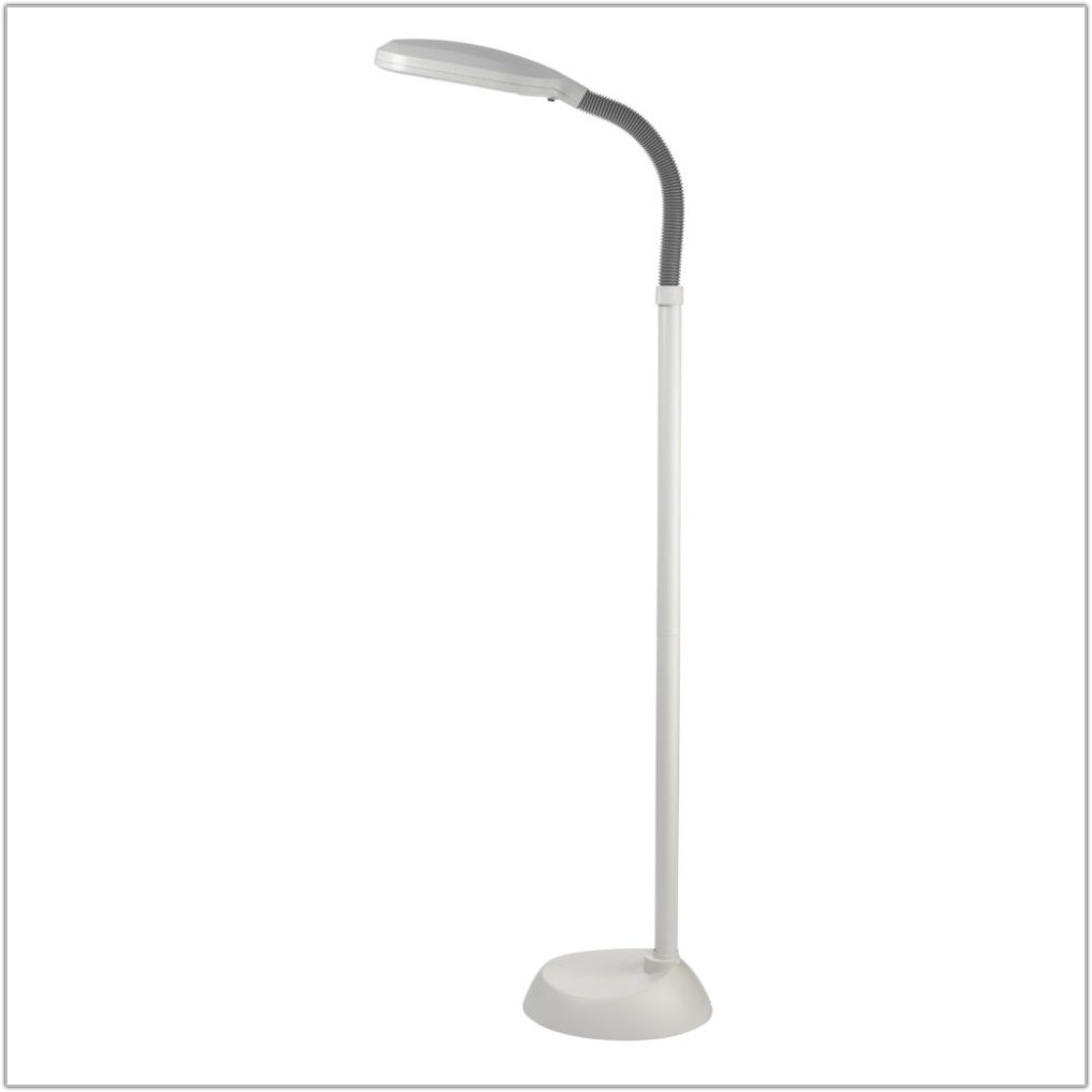 Adjustable Height Brass Floor Lamp
