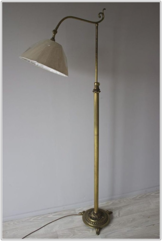 Adjustable Height Wrought Iron Floor Lamp