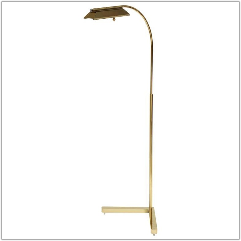 Adjustable Polished Brass Floor Lamp