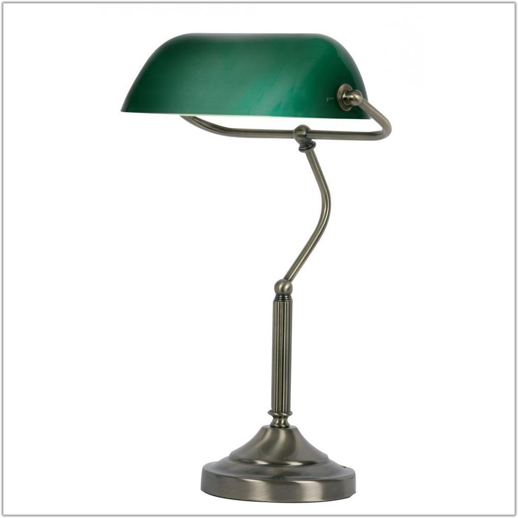 Antique Brass Bankers Desk Lamp