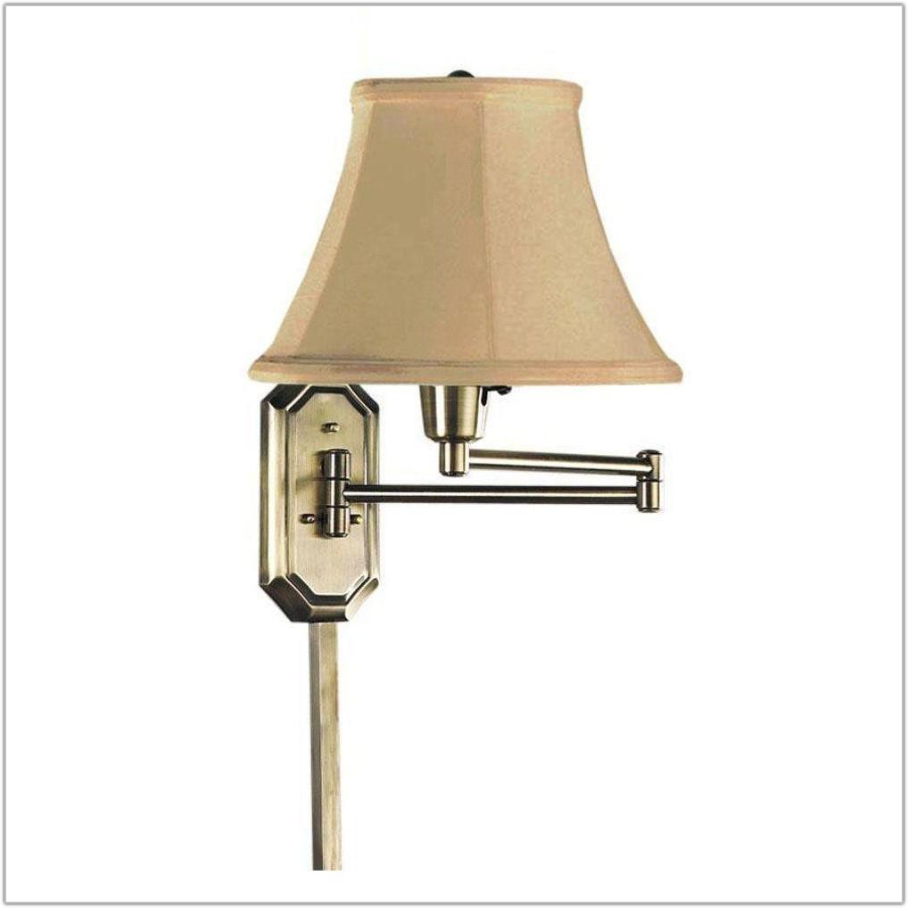 Antique Brass Swing Arm Lamp