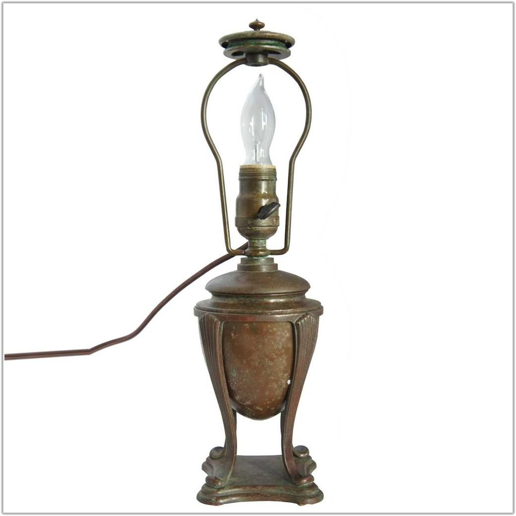 Antique Bronze Table Lamp Base