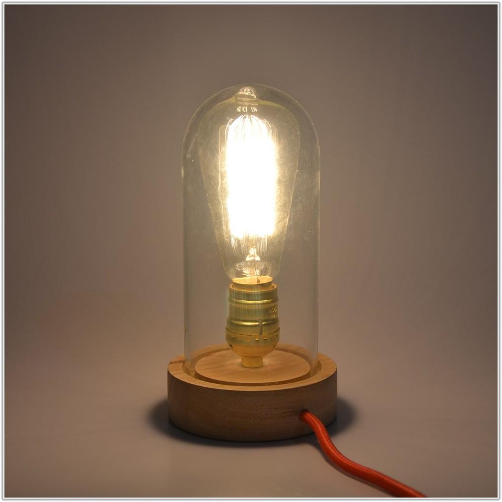 Antique Desk Lamp Green Glass Shade