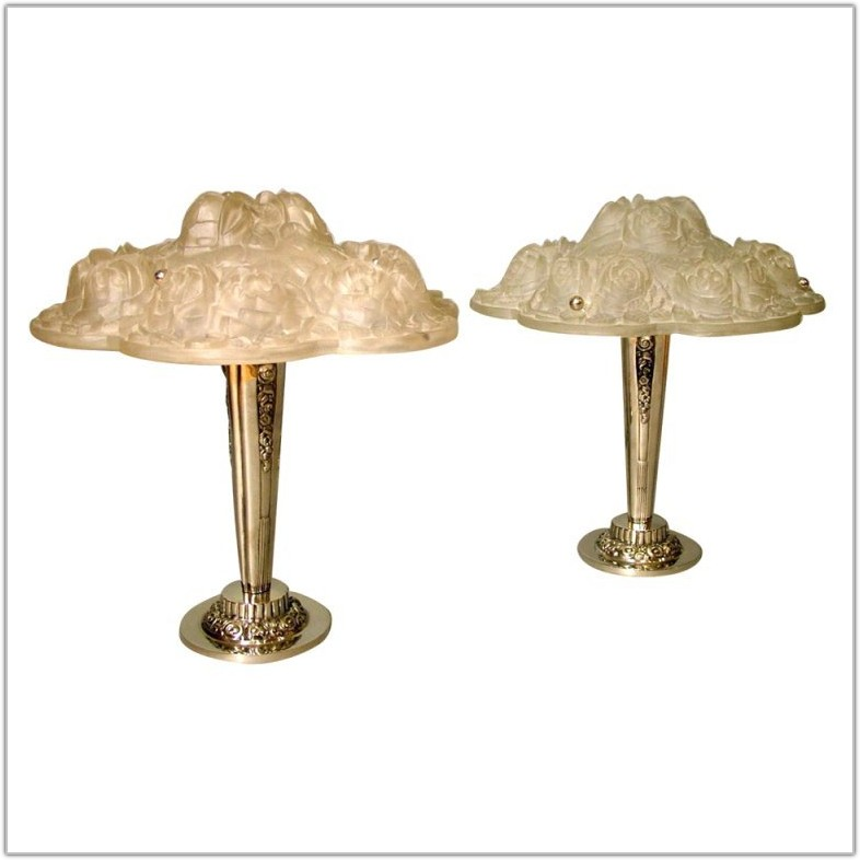 Antique French Art Deco Table Lamps