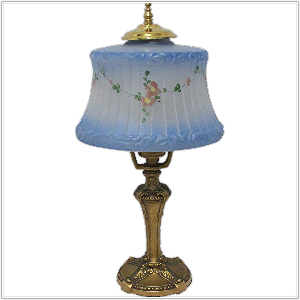 Antique Frosted Glass Table Lamp