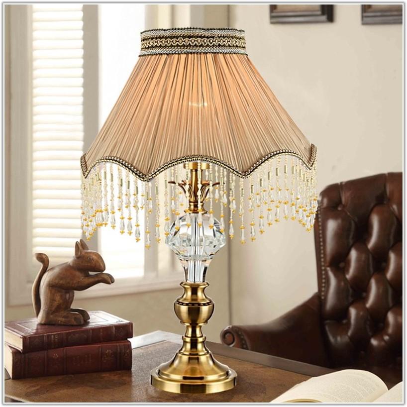 Antique Milk Glass Table Lamps