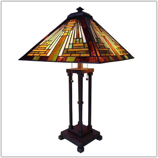 Antique Mission Style Table Lamps