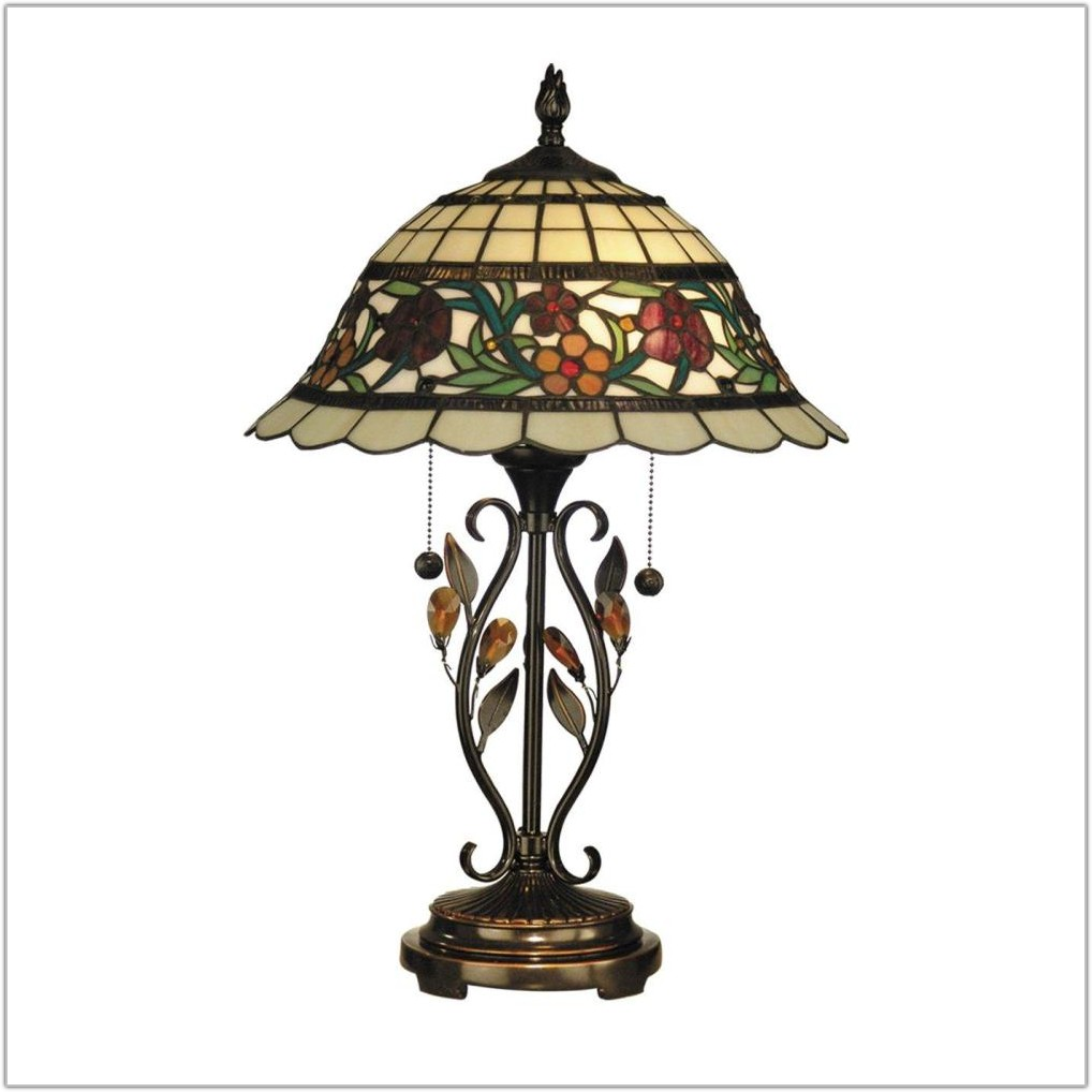 Antique Tiffany Bronze Table Lamps
