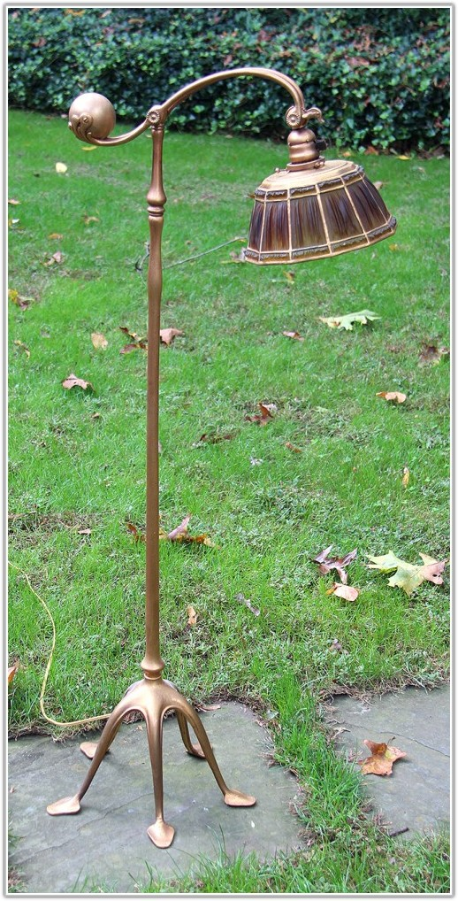 Antique Tiffany Style Floor Lamps