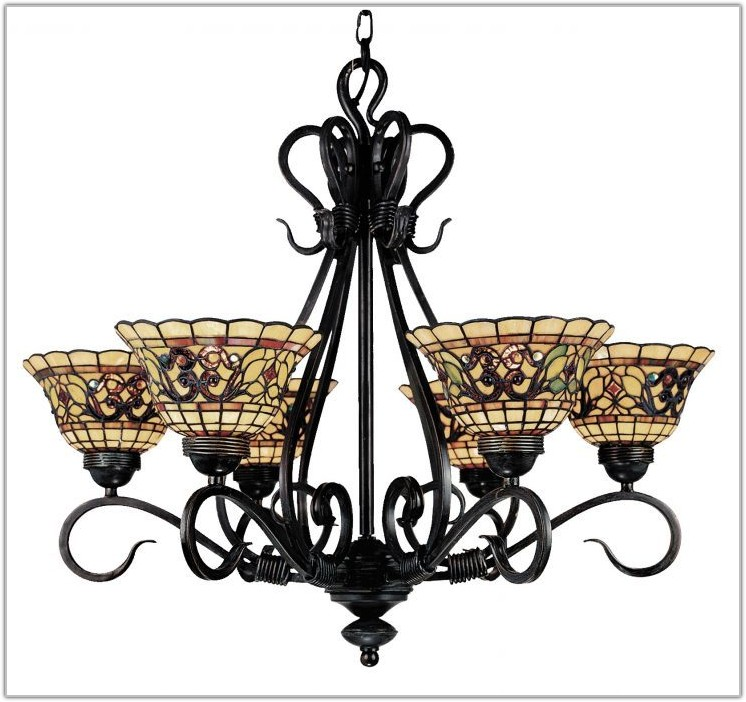 Antique Tiffany Style Hanging Lamps