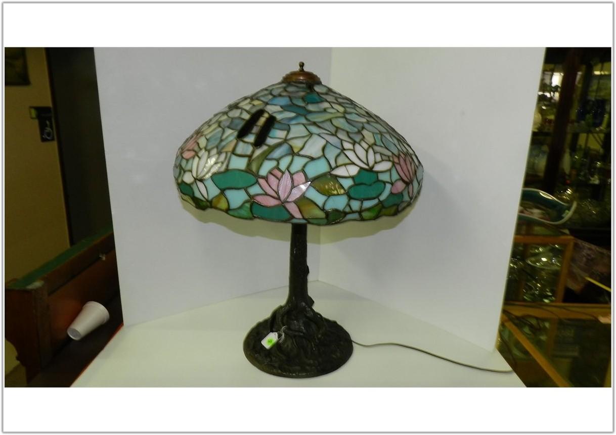 Antique Tiffany Style Lamp Base