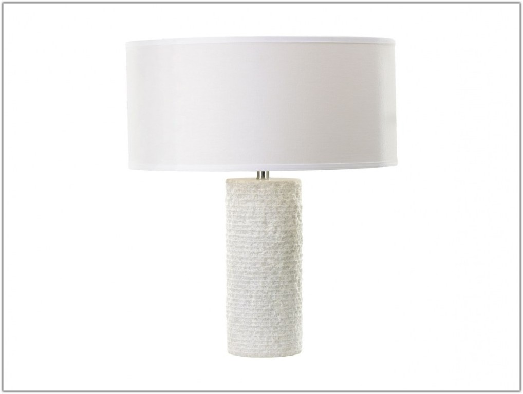 Antique White Marble Table Lamps