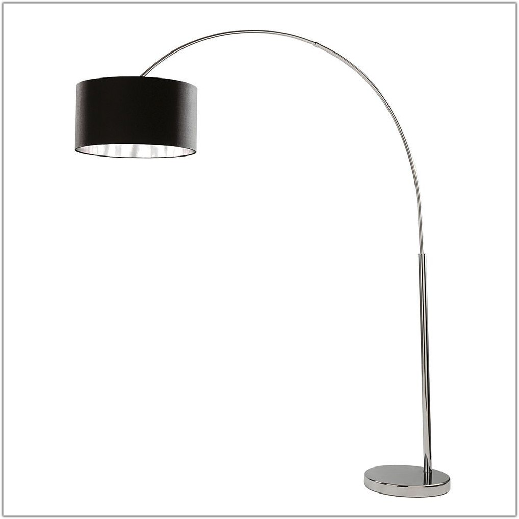 Arc Black Chrome Floor Lamp