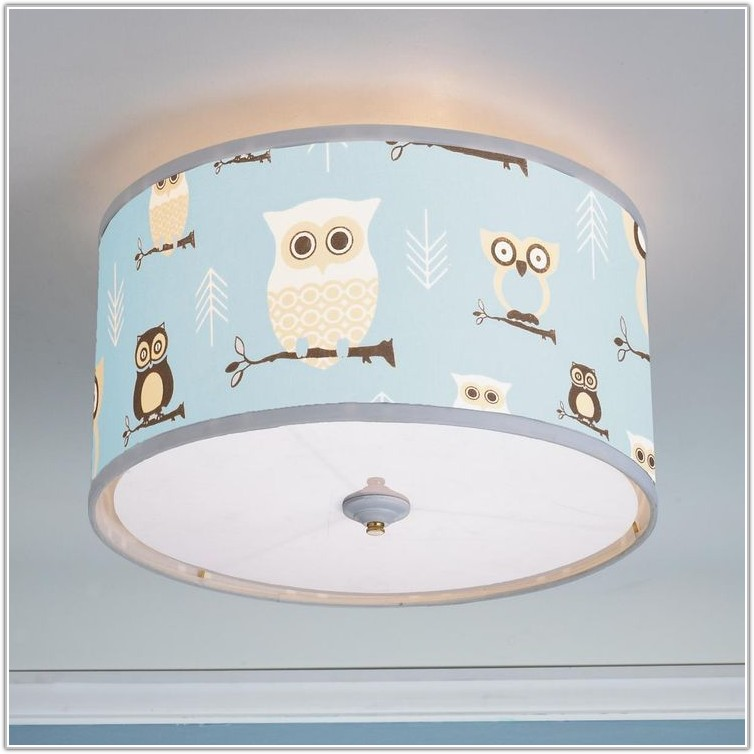 Baby Blue Lamp Shade Nursery