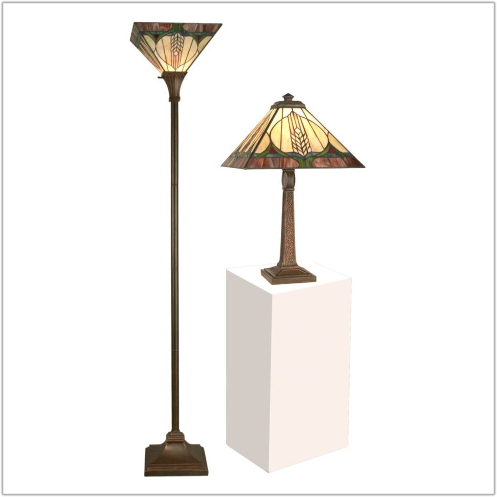 Bamboo Tray Table Floor Lamp