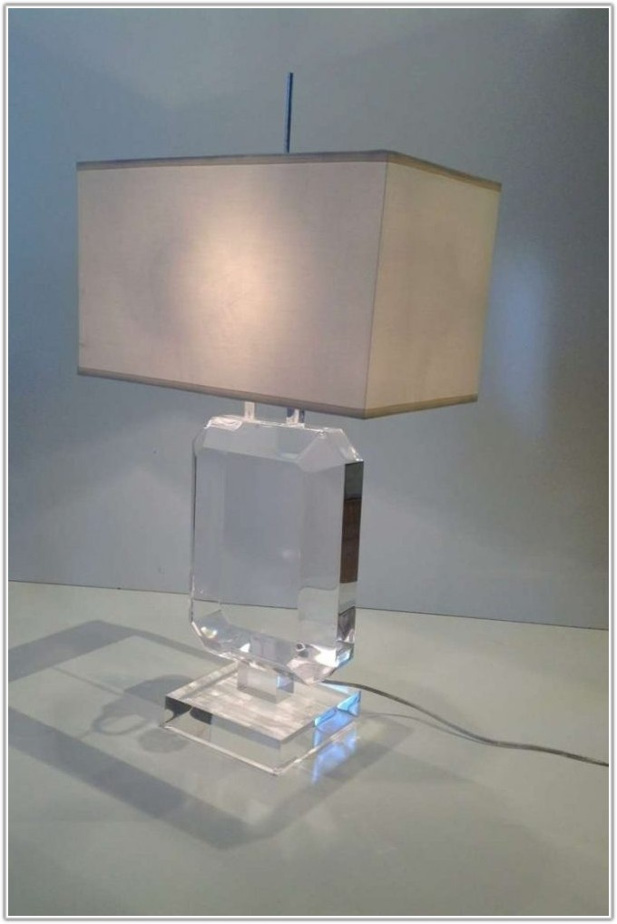 Baroque Style Clear Acrylic Table Lamp