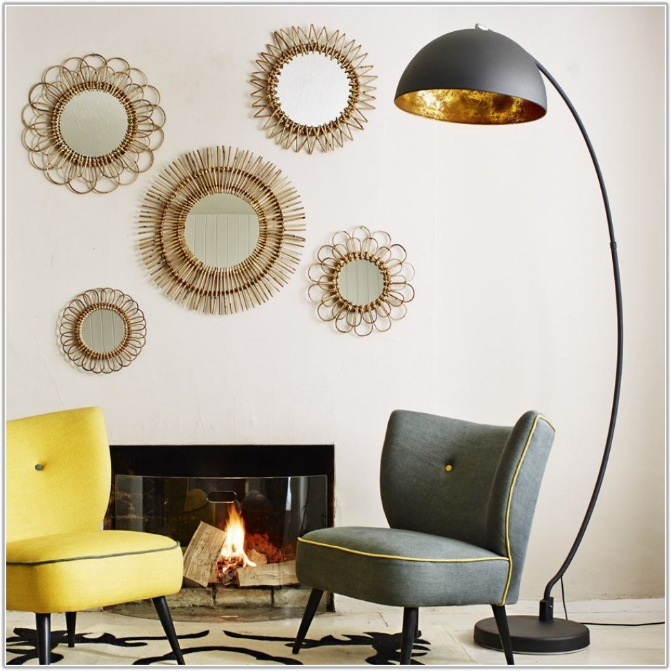 Black And Gold Arc Floor Lamp
