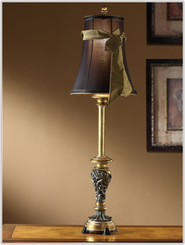 Black And Gold Buffet Lamps