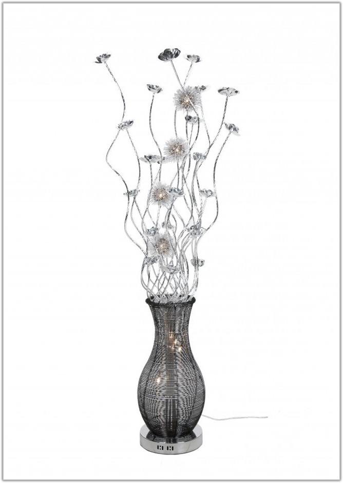 Black And Silver Floor Lamps