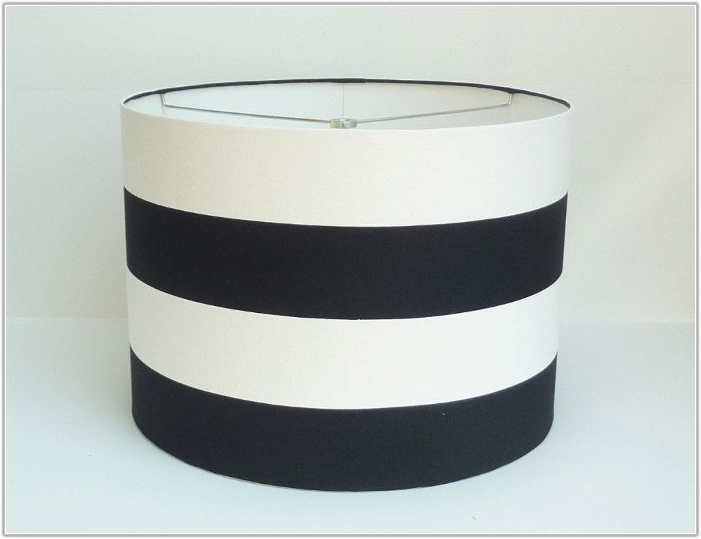 Black And White Striped Lamp Shades