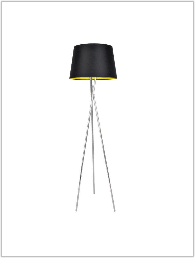 Black Chrome Tripod Floor Lamp