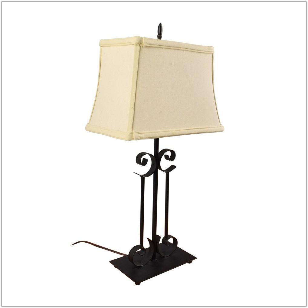 Black Metal Table Lamp Base
