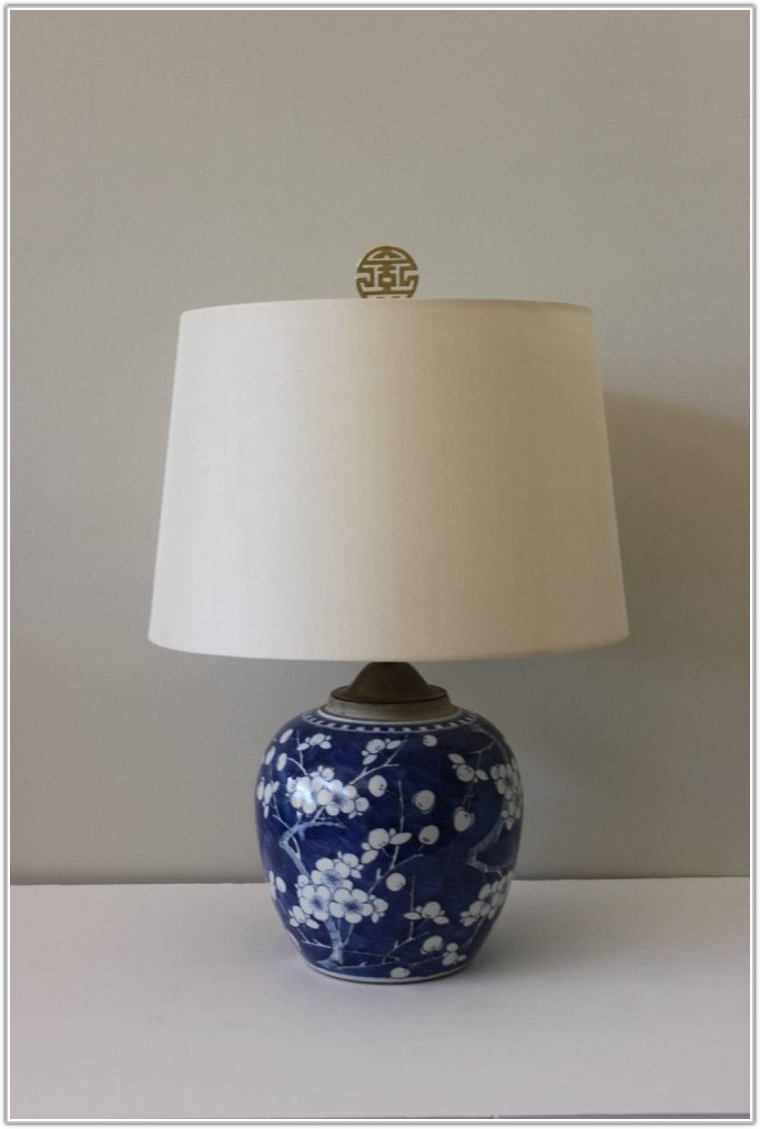 Blue And White Ginger Jar Lamps