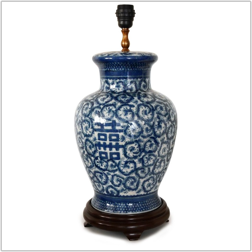 Blue And White Lamp Base