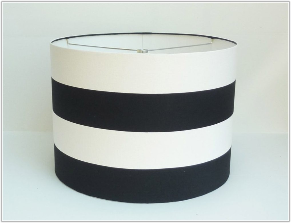Blue And White Striped Lamp Shades