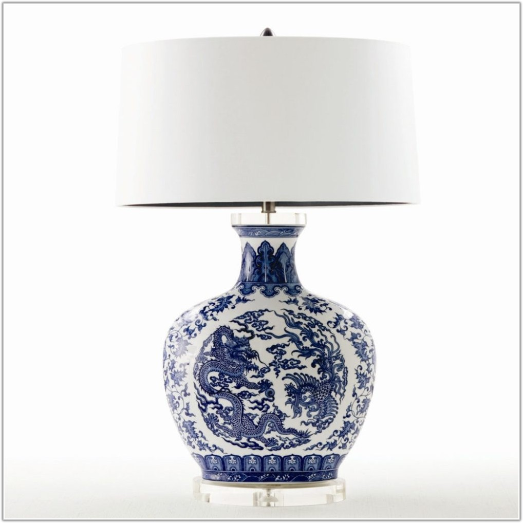 Blue And White Table Lamps Australia
