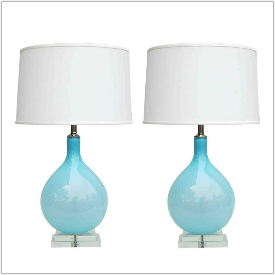 Blue Lamp Shades Table Lamps