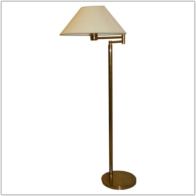 Brass Floor Lamp With Adjustable Arm