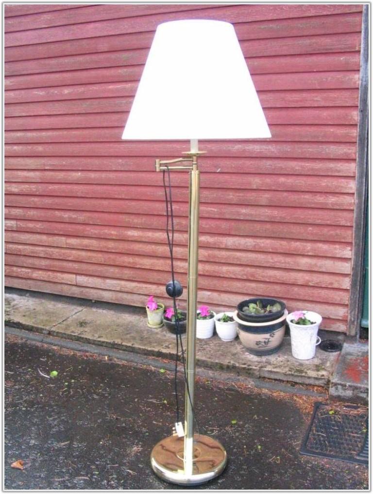 Brass Swing Arm Standard Lamp