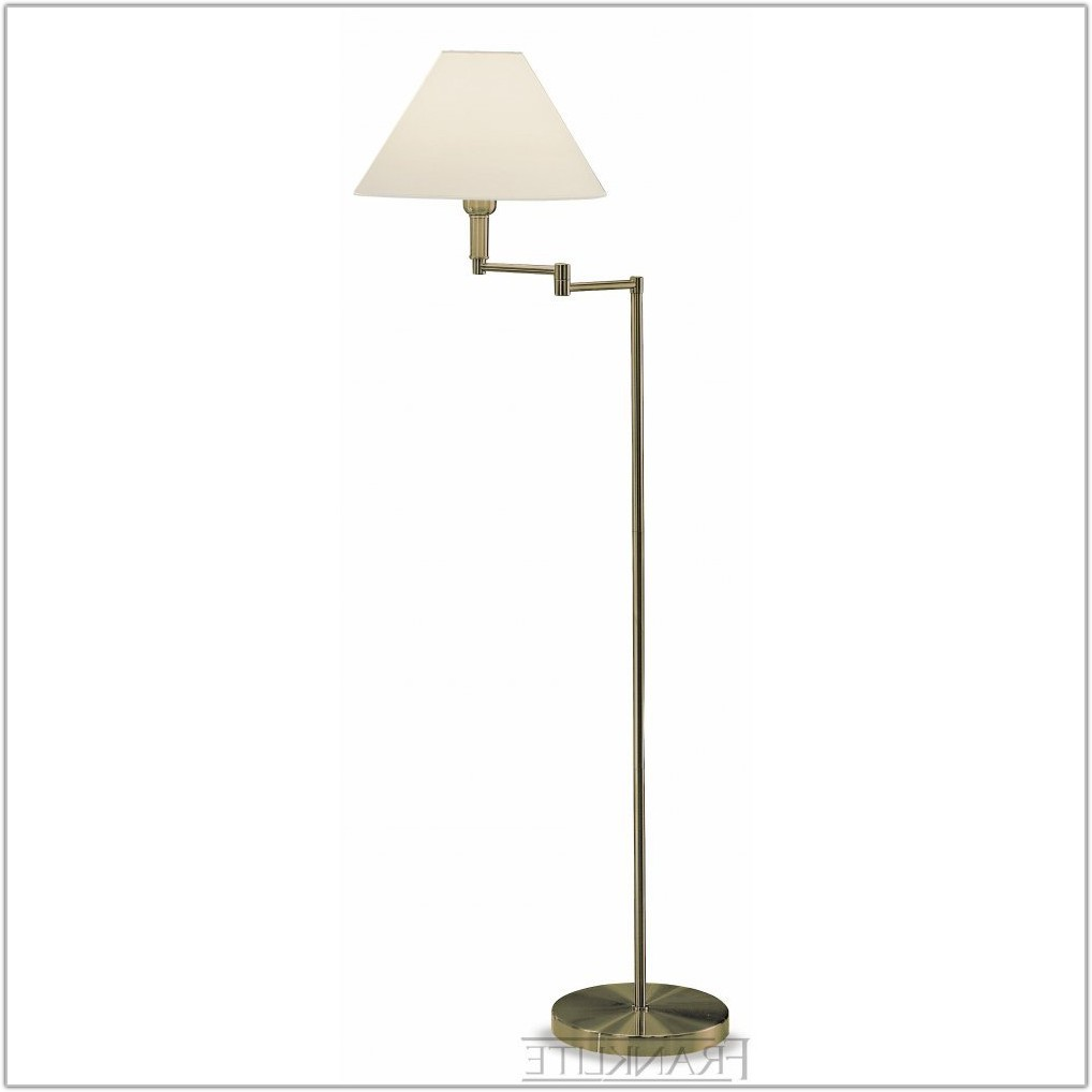 Bronze Swing Arm Floor Lamp