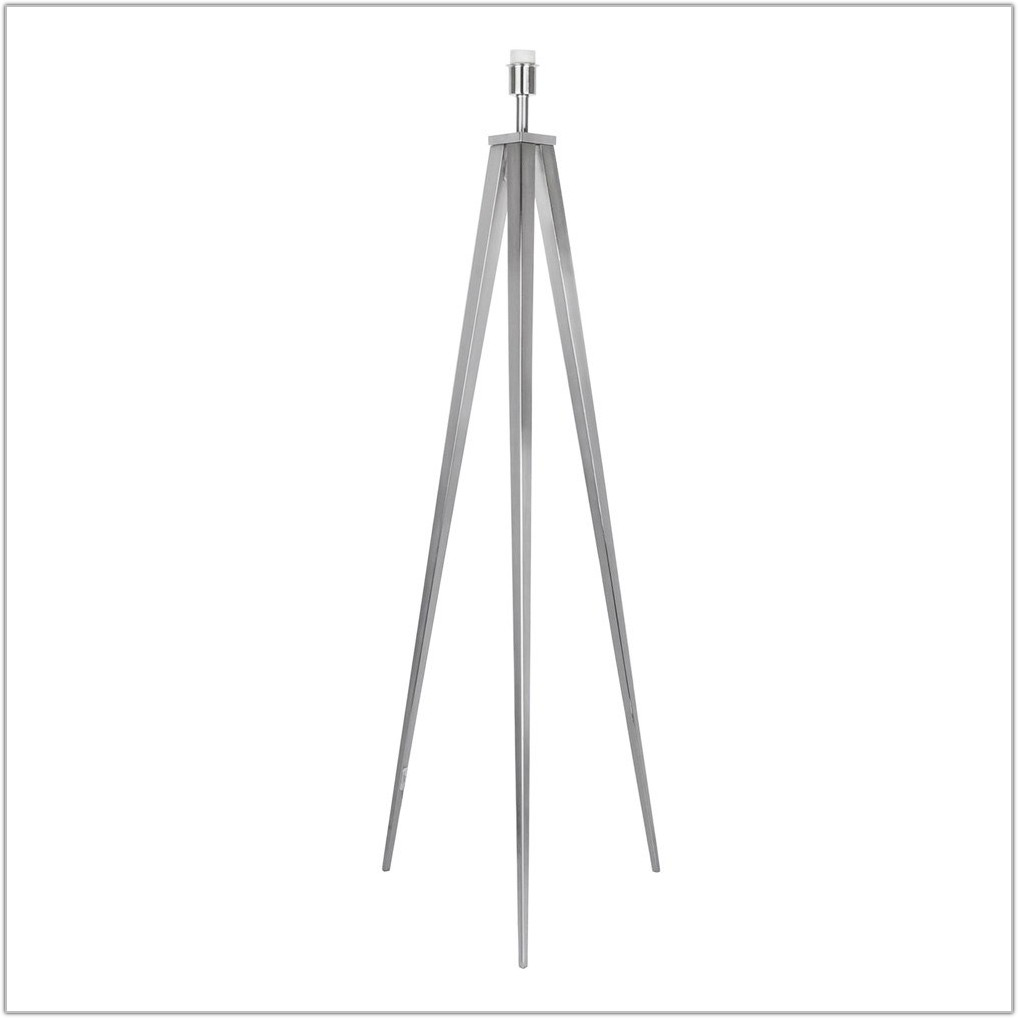 Brushed Chrome Floor Lamp Base