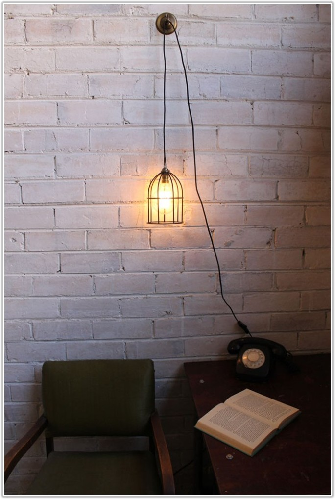 Ceiling Light With Plug In Cord