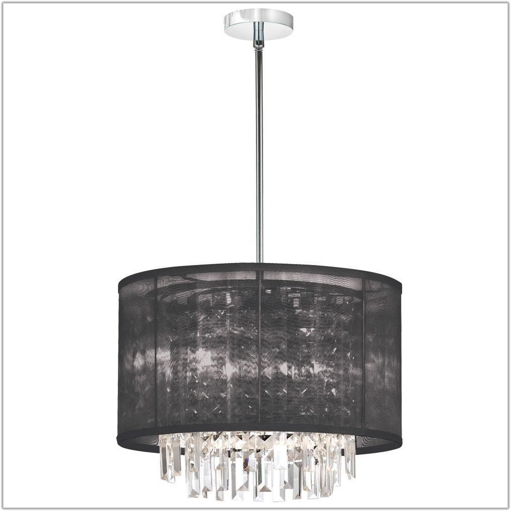 Chandelier With Drum Lamp Shades