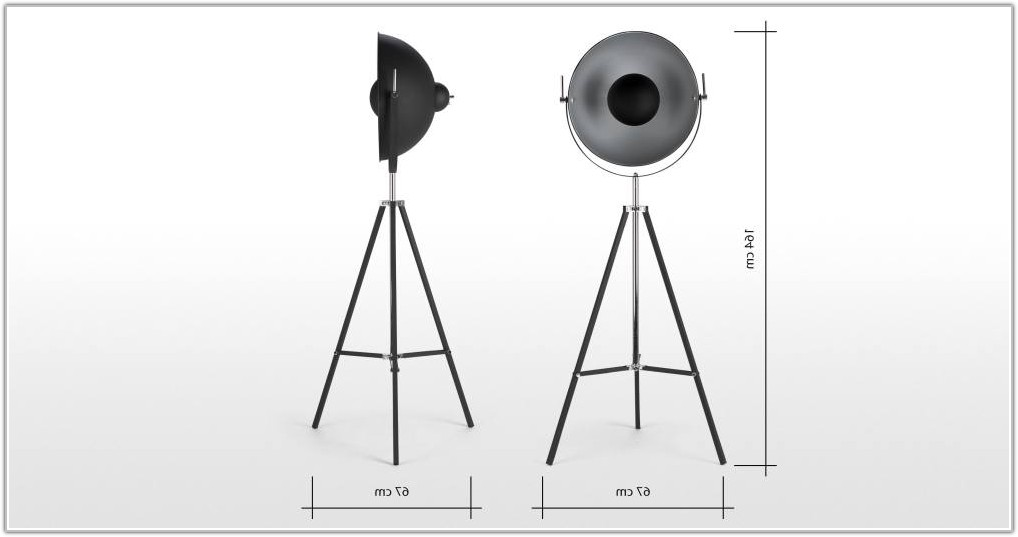 Chicago Floor Lamp Black And Silver