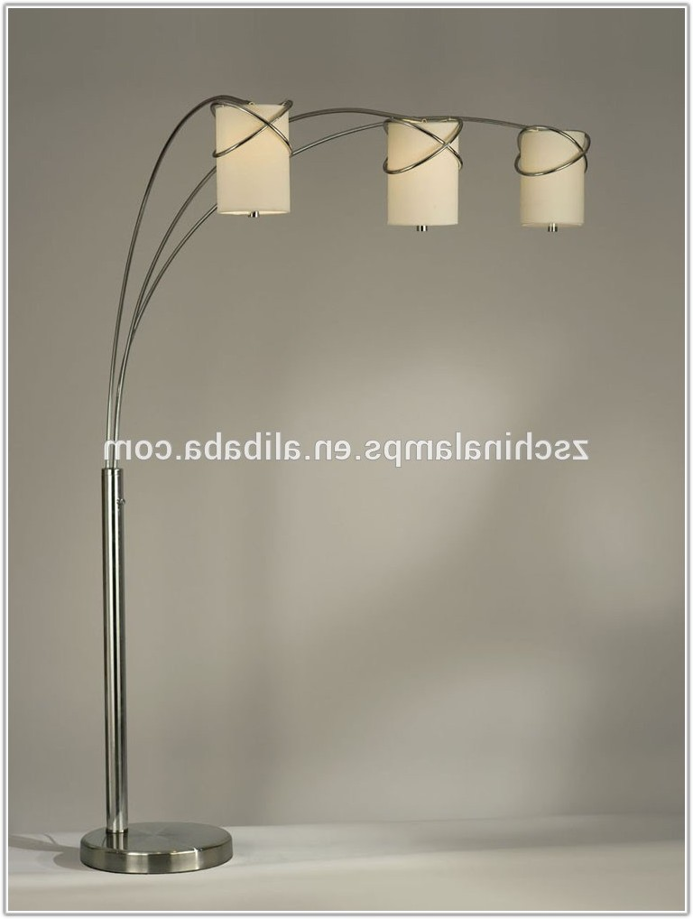 Contemporary Arc Floor Lamp With Shade