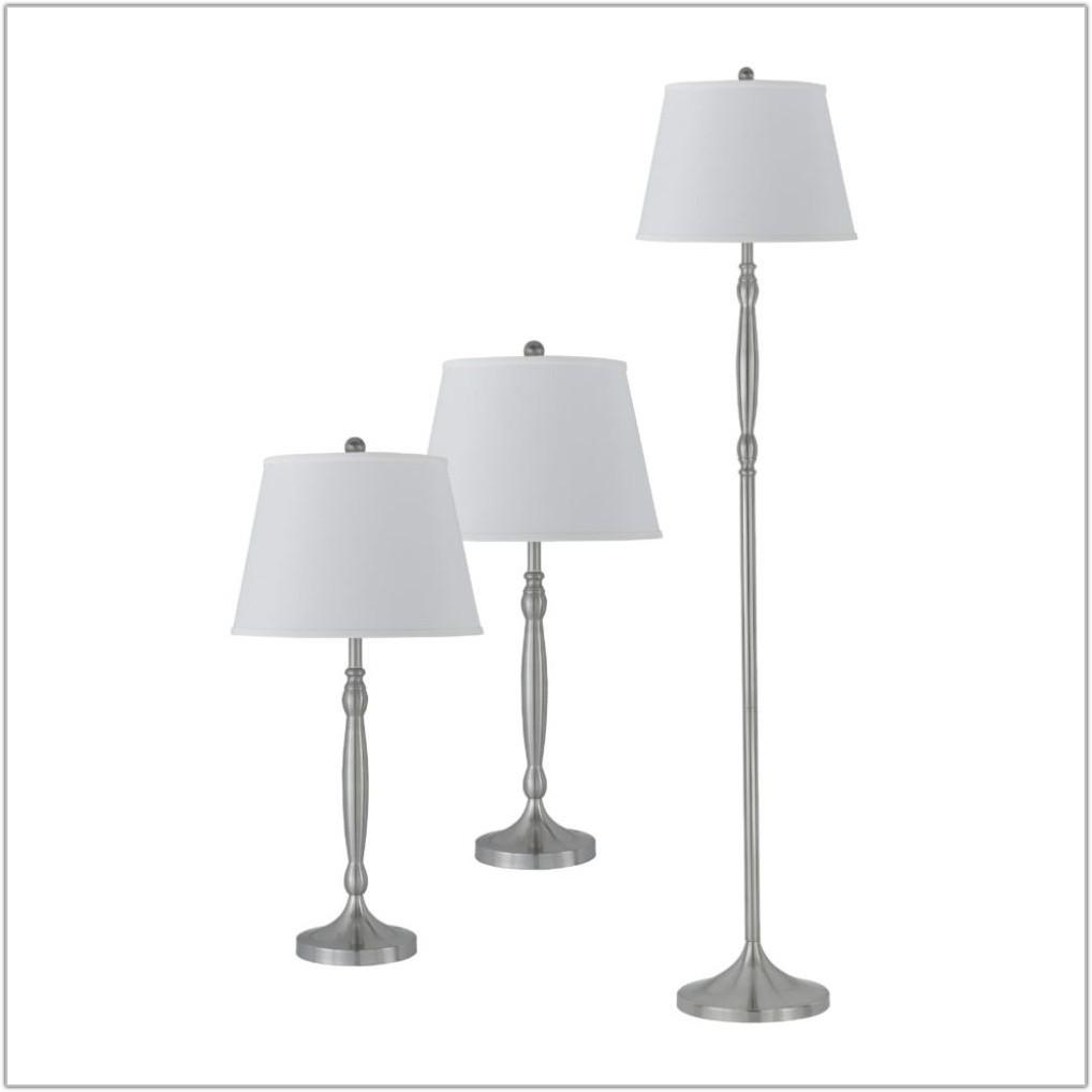 Contemporary Tray Table Floor Lamp