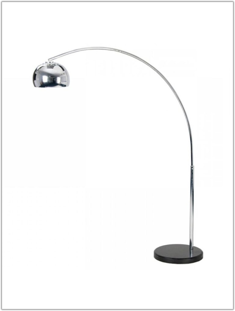 Curved Floor Lamp With Large Shade