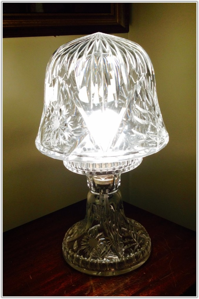 Cut Glass Mushroom Table Lamp