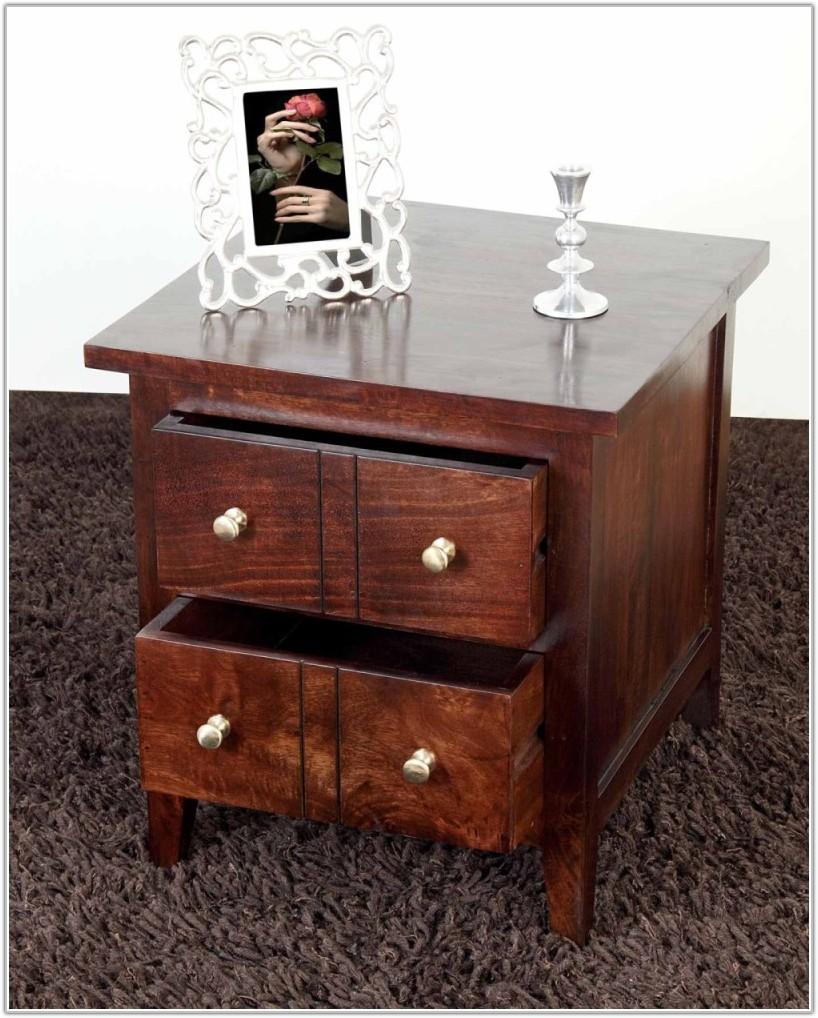 Dark Mango Wood Lamp Table
