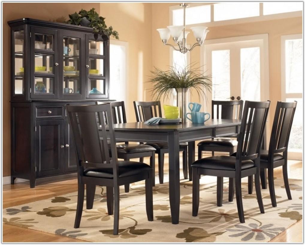 Dark Wood Table Light Chairs