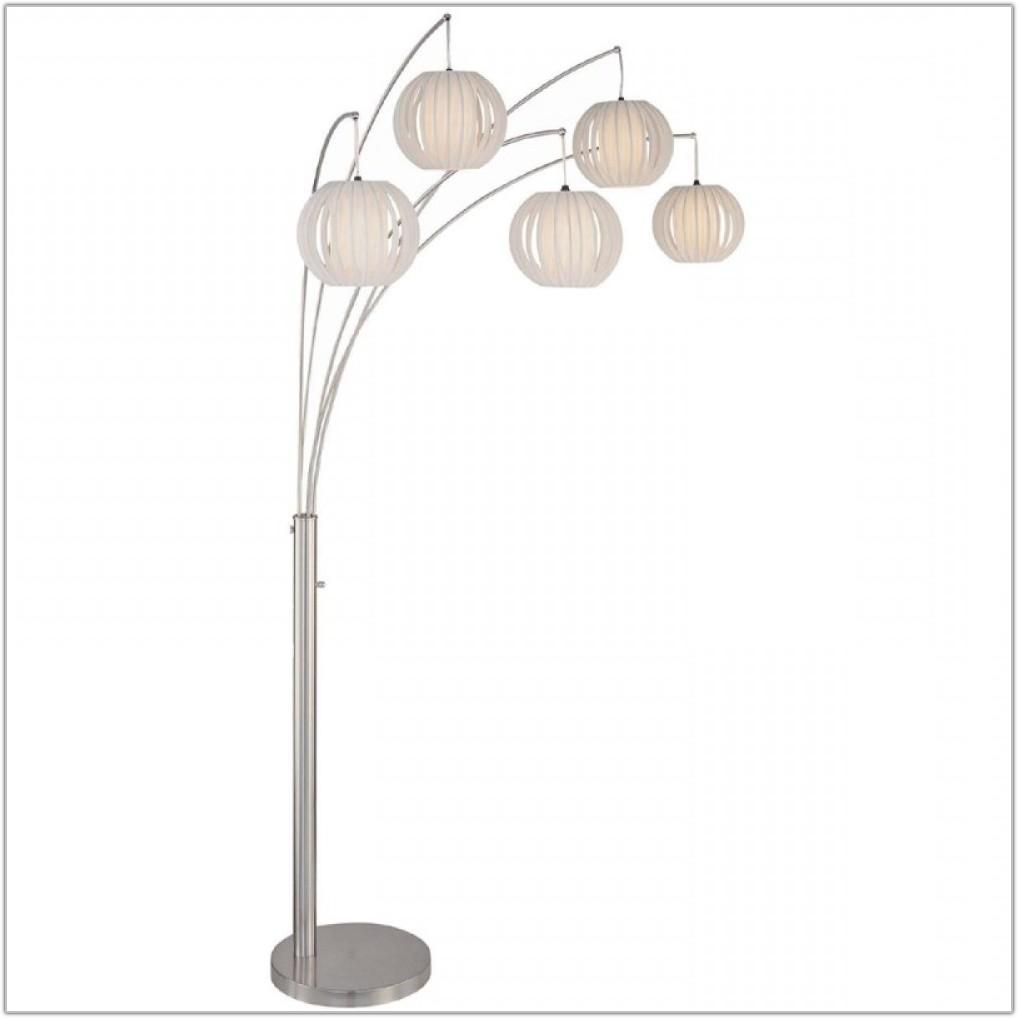 Deion 5 Light Hanging Arc Floor Lamp
