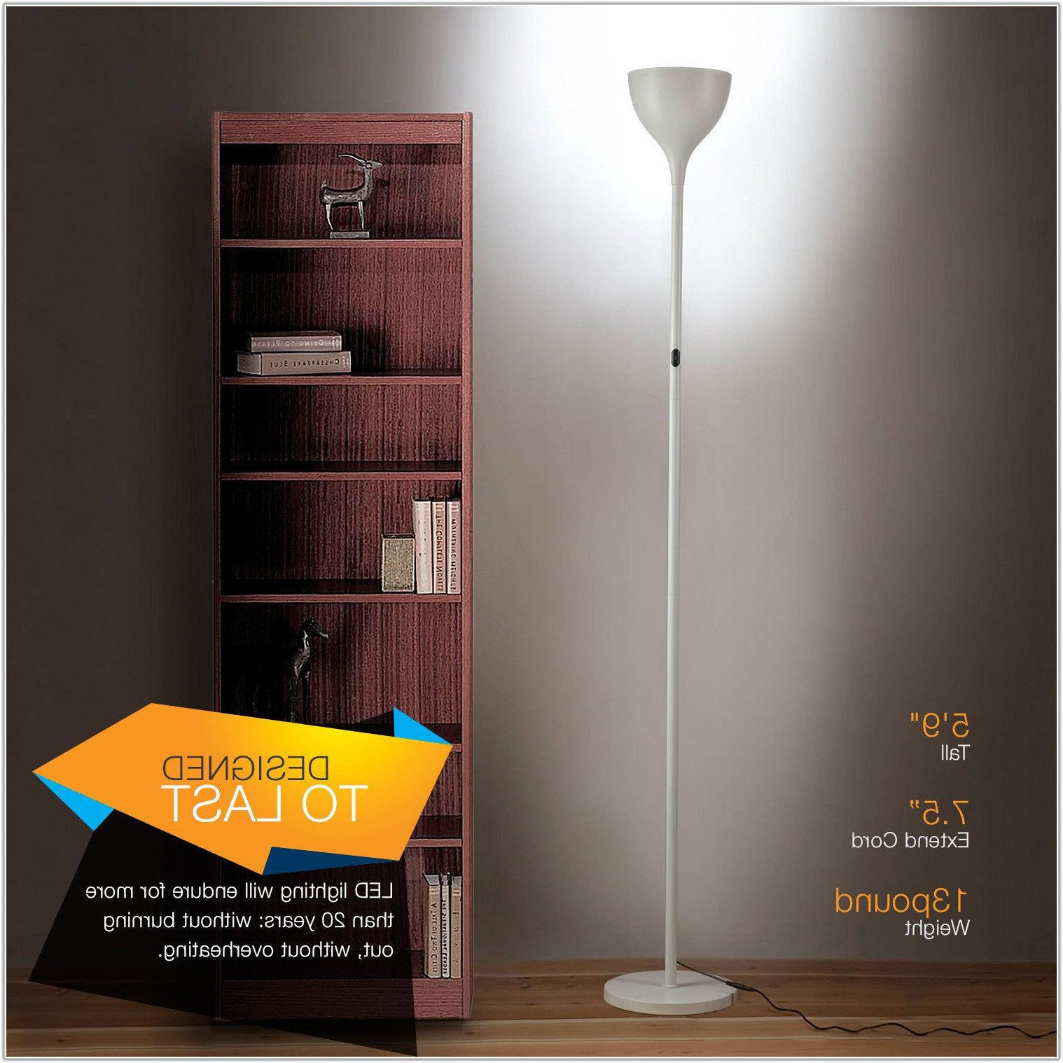 Dimmable Led Torchiere Floor Lamp