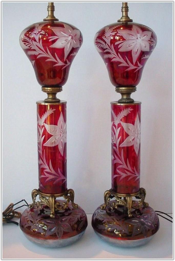 Ebay Cut Glass Table Lamps
