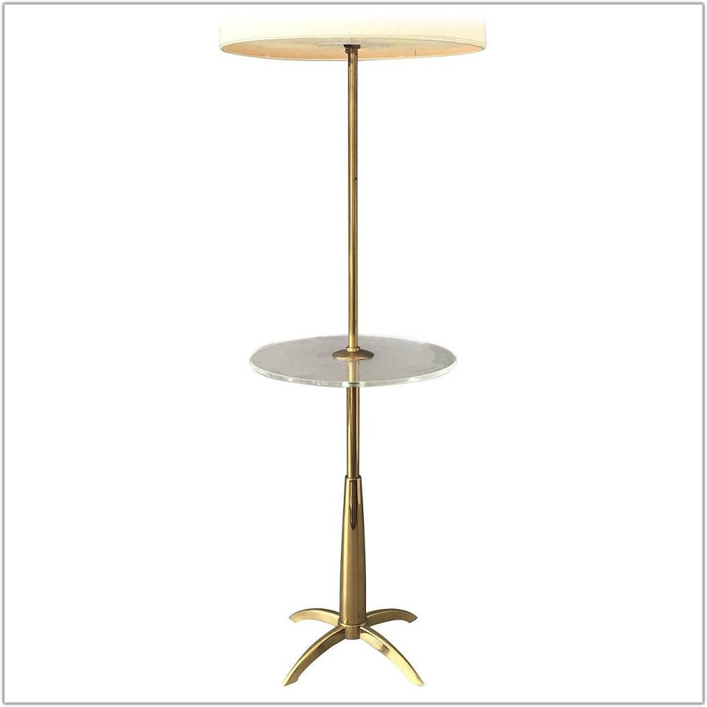 End Table With Built In Floor Lamp